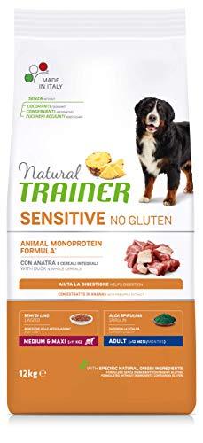 Sensitive No Gluten MediumMaxi Erwachsene Trainer mit Ente und integralem Getreide, 12000 g