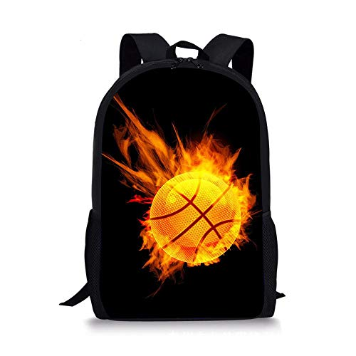 HUANIU Children's Backpack 3d Hot Basketball Backpack Cartoon Super Light Student School Bag Shoulder Bag Travel Backpack Computer Bag Large Capacity D-15in * 10.7in * 4.2in