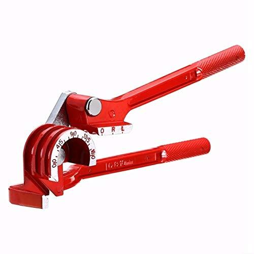 SPRINGHUA 1 herramienta de doblado de tubos de 180 grados, para tubos de aleación de aluminio, doblador de tubos de freno de combustible (color: rojo, tamaño (cm): como se muestra)