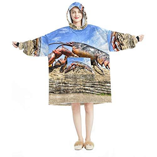 Sudadera con capucha para mujer, cómoda para el hogar, chándal relajado, cálido, estilo langosta europeo.