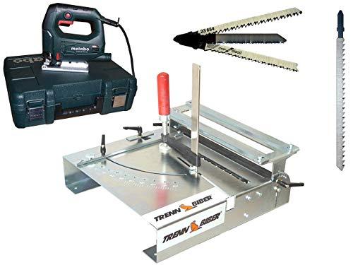 Sierra de calar STEP65 plus con mesa de sierra de calar de franela 012L-1 + hojas de sierra de calar con mango en T como cortador de laminado