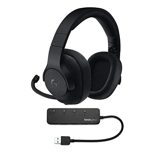 Logitech G433 7.1 Surround Wired Gaming Headset with Knox Gear 3.0 4 Port USB Hub Bundle
