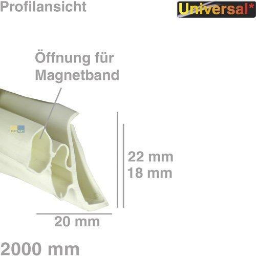 daniplus© Universal Türdichtung 1-seitig für Kühlschrank, 2 Meter Dichtung #1534