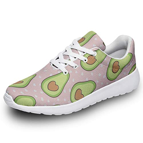 AXGM Girls Boys Sports Shoes Love Avocado Fruit Dots Pink 3D Digital Running Shoes Trainers Stylish Street Running Shoes Hiking Shoes Running Shoes Sneakers Size: 6 UK