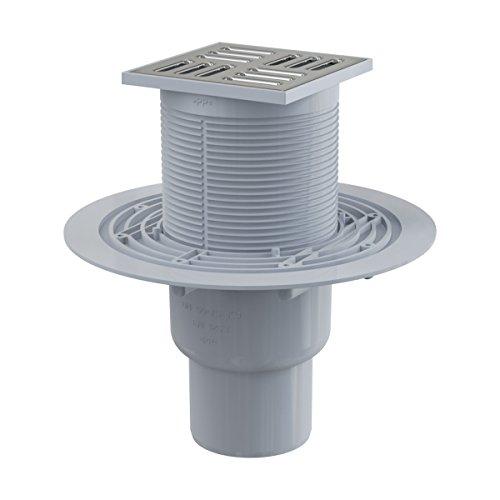 Siphon droit de sol - acier inoxydable DN 50/75 sortie verticale