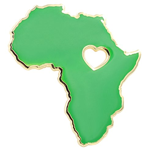 Heart of Africa Pin - Hard Enamel Pin - BLM Wakanda Forever Pride Pin by Real Sic - Pan-African Colors (Green)