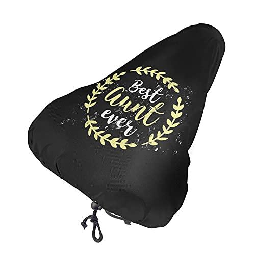 Best Aunt Ever Bae Auntie Funda para asiento de bicicleta Funda impermeable para sillín de bicicleta Funda para lluvia con cordón elástico Funda para asiento de bicicleta a prueba de polvo para t