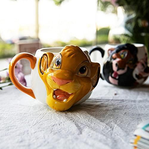 Café Cerámica Desayuno Regalos Taza De Cerámica Del Rey León En Relieve Tridimensional De Disney Taza De Café Taza De Desayuno