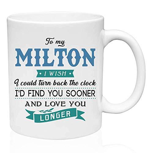 Valentine Geschenke für ihn an meinen Milton Ich wünschte, ich könnte die Uhr zurückdrehen Ich würde dich früher finden und dich länger lieben - Lustiges Geschenk für Ehemann von Frau, Geschenkideen f