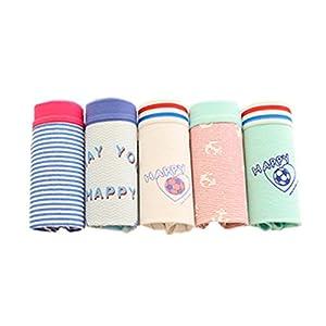(パイミ)PAIMI ショーツ レディース パンツ 下着 綿 可愛い レース リボン 動物 かわいい 5枚 セット 中学生 女子高生 大学生