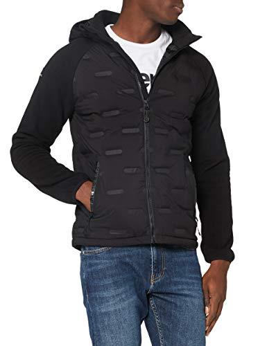 Superdry Herren Sonic City Hybrid Zip Thru Jacket, Schwarz, XL EU