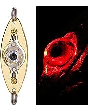 JSSEVN LED fiske ljus djupa droppar undervatten rund form bläckfisk Strobe blinkande ljus bete lockar, LED-fiskedrag för utomhusbruk, minifiskform, blinkande lampa, fisketillbehör, konstbete