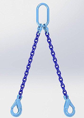 Hackett AMZ1023294 Ketting Sling met zelfsluitende haken, 8mm Chain Dia, 1