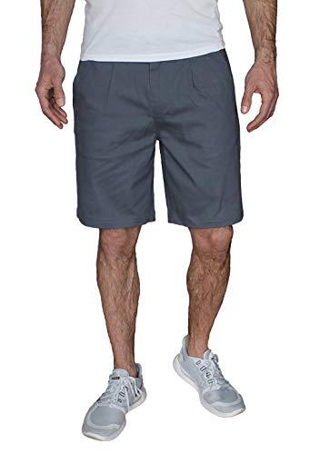 Banqert Herren Kurze Hosen, Männer Shorts Regular fit, Herrenshorts Pants, einfarbige Wanderhose für Jungen Chino Knielang, Grau-e Grey L