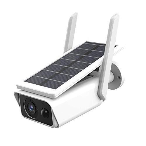 Cámara de seguridad inalámbrica para exteriores, funciona con energía solar, recargable WiFi 1080P, cámara IP para el hogar, impermeable, con detección de movimiento PIR, visión nocturna