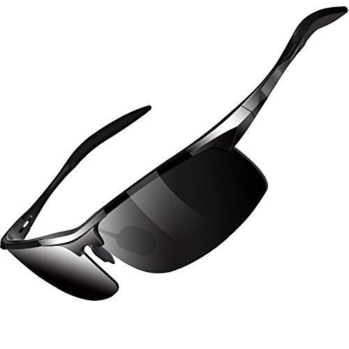 Woodinoo Sportbrille für Herren und Frauen, polarisierte Sonnenbrille mit Hochwertiger Al+Mg Metallrahmen, mit TAC UV400-Schutz, Premium für Radfahren, Laufen und Wandern