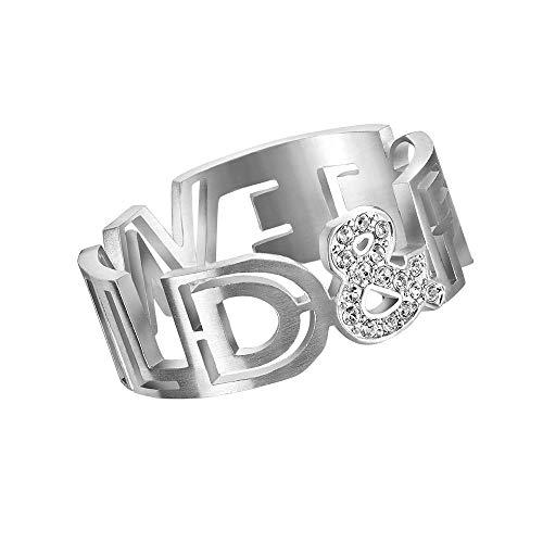 L'AMOTION Wild & Free | Message Ring | Edelstahl mit Swarovski Kristallen - 5245654, 5245685 (55 (17.5))