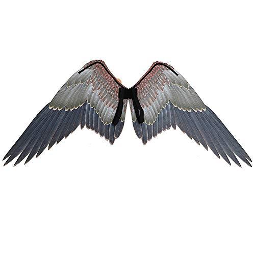 Yzki disfraz de alas de pájaro para adulto, alas de águila grande no tejidas, accesorio de escenario para carnaval, Halloween, Navidad, fiestas, como en la imagen, Tamaño libre