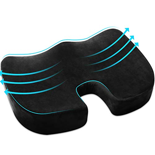 Seat Cushion,Comfortable Office Chair Cushion for Butt,Tailbone Pain Relief Cushion for Sciatica/Back Pain/Pressure Relief, Premium Memory Foam Seat Cushion for Office Chair/Car Seat/Wheelchair