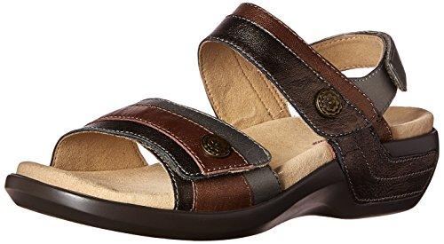 Aravon Women's Katherine-AR Flat Sandal,Metallic/Multi,5 B US