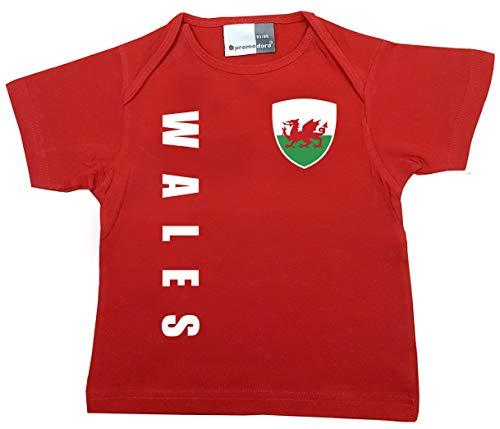 aprom Wales T-shirt pour bébé - WM EM No.1 R WA - Rouge - 56/62 cm