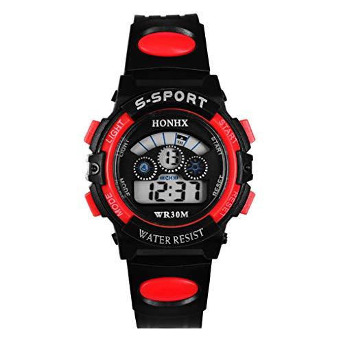 Dorical wasserdichte Sportuhr für Herren, Digitale Quarz Armbanduhr, Outdoor Uhr Laufen Chronographuhr militärische Uhren, Cool Sport große Anzeige LED mit Timer und Wecker für Männer(H)