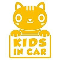 imoninn KIDS in car ステッカー 【シンプル版】 No.24 ねこさん (黄色)