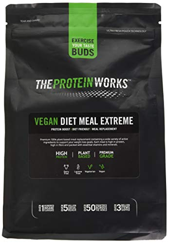 The Protein Works Vegan Diet Meal Replacement Extreme, Vanilla Crème, 1 kg