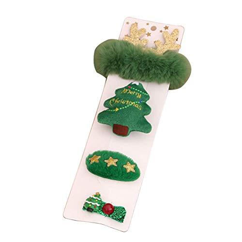 EUCH 1 juego de regalo de pulsera de broche de horquilla de Navidad, 1 juego de 1 venta.