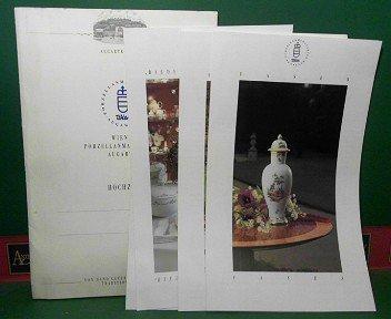Wiener Porzellanmanufaktur Augarten - Hochzeit (= Mappe mit den Prospekten: Vasen, Speise-Service Form 62, Service, Biedermeier-Girlande, Speise-Service Form 1).