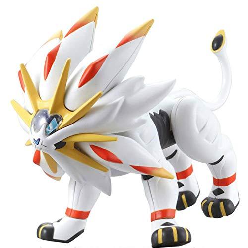 JINGMAI Anime Pokemon Solgaleo Figurine Jouet 15 Cm, Épée en PVC Et Figurines De Bouclier Modèle Jouets pour Enfants