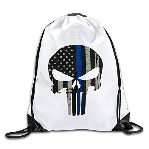 Etryrt Prämie Turnbeutel/Sportbeutel, Thin Blue Line Gym Sack Bag Drawstring Backpack Sport Bag
