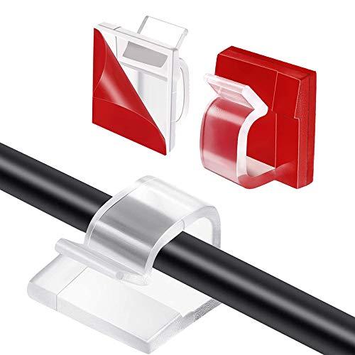 HALOVIE 120 Piezas Mini Clips de Cable de Exterior con Cinta Adhesiva...