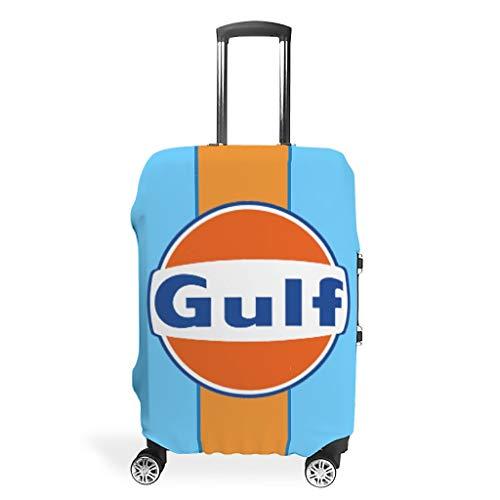 O5KFD&8 Gulf Reise Koffer Protector - Orange Gulf Drucken Luggage Cover Mehrgrößen Anzug Die meisten Koffer White l(26-28 inch