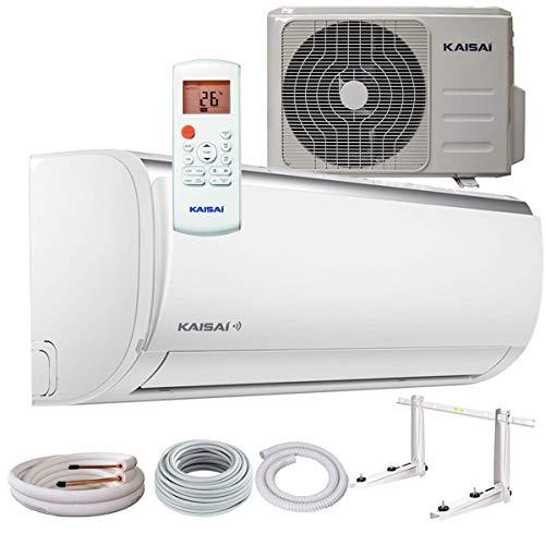 Kaisai Fly Split Klimaanlage 2,6 kW 9000 BTU, für bis zu 40 qm, inklusive WiFi, Invert Klimagerät Split, A++ Kühlen, A+ Heizen, inkl. MontageSet, Kältemittel R32, Fernbedienung