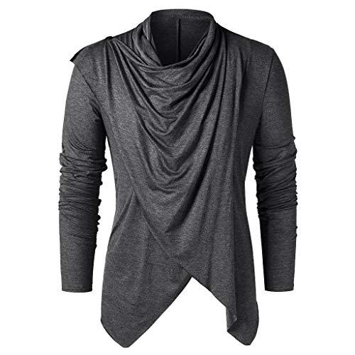 Tefamore T-Shirt à Manches Longues à Manches Longues à Manches Longues pour Femmes(Gris foncé,Medium)