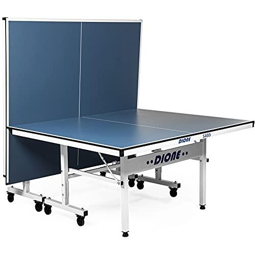 Dione Mesa de tenis de mesa para interiores S400i Escuela Deportiva Compacta Tamaño Completo Plegable Ping Pong Fácil Montaje Azul 70KG ⭐