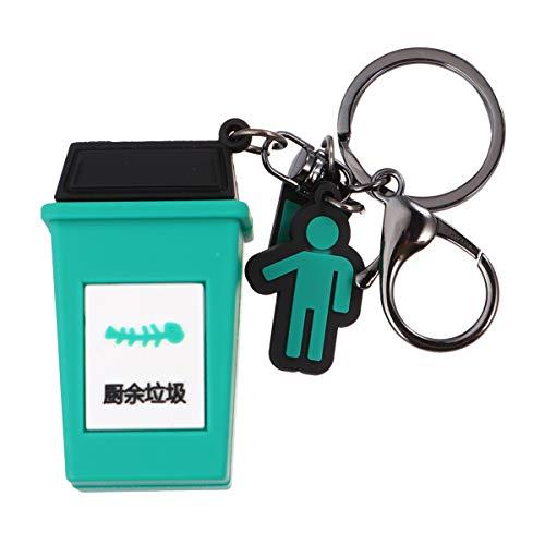NUOBESTY Jouet Tri Ordures Mini Poubelle Porte-Clés Miniature Poubelle Cadeau de Fête Clé Charmes Accessoires Anniversaire Sacs Remplisseurs
