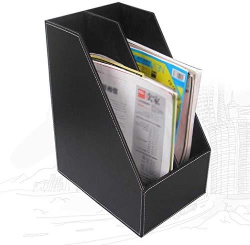 LIUYULONG Archivador de almacenamiento de archivos multifuncional, archivador plano, tela de cuero artificial, oficina y hogar de gran capacidad para ordenar carpetas, caja de archivos