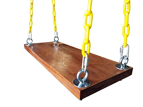 Safari Swings Fun Outdoor Wooden Swing - Wood Swing Set Accessories for The Porch, Tree, Playground, Park or Backyard (10' x 24')