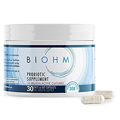 Dr. Formulated 30 Billion CFU Probiotic, Probiotics for Women & Men, Organic Probiotic Supplement with Digestive Enzymes for Immune Health, Shelf Stable, Non-GMO, Vegetarian, 30 Count