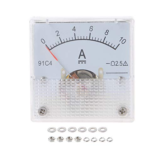 Sweo 91C4 Amperemeter DC Analog Strommessgerät Panel Mechanischer Amperetester Pointer 1/2/3/5/10/20/30/50/100/200/300/500 mA A, 10A, One size