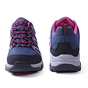 TFO Women's Lightweight Breathable Non-Slip Hiking Running Shoes Athletic Outdoor Walking Trekking Sneakers (8.5 B(M) US, Navy)