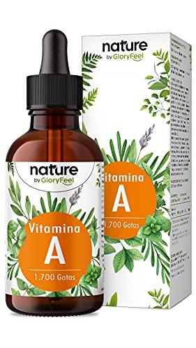 Gotas de Vitamina A altamente dosificadas - 50ml (1700 gotas) - Auténtico éster de vitamina A (palmitato de retinilo) en aceite MCT - Sin aditivos, probado en laboratorio, vegano