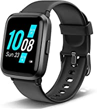 Smart Watch Compatible with Android and iOS Phone, Lintelek Smartwatch HR Monitor, Fitness Watch Blood Pressure Monitor with 5ATM Waterproof Step Tracker for Men and Women