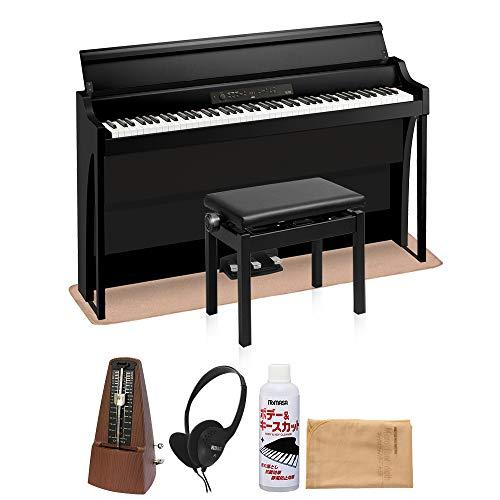 KORG G1B AIR BLACK 高低自在イス・カーペット・お手入れセット・メトロノームセット 電子ピアノ 88鍵盤 コルグ