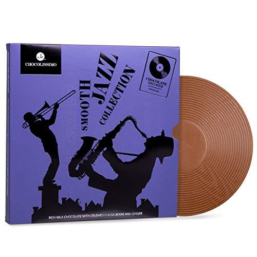ChocoVinyl 'Smooth Jazz' - Schallplatte aus Schokolade | Schoko-Schallplatte | Musik Liebhaber Geschenk | Witzige Schokoladen Geschenke | Geschenkidee für Musik liebende | Musiker | Vatertag