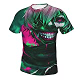 Camiseta Estampada para Hombre de Estilo Casual Tok-Yo GH-OUL (2) Camisetas de Manga Corta y Cuello Redondo para Hombre Grande