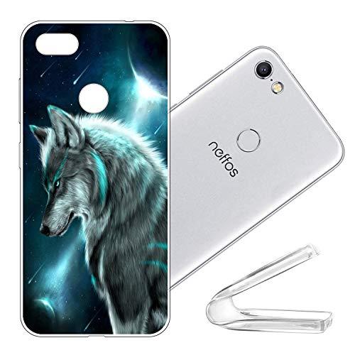 vingarshern Schutzhülle kompatibel mit TP-Link Neffos C9A Hülle Silikon Bumper Hülle,Dünne Flex Weich Fallschutz Stoßfest Silikonhülle Handyhülle Schutz Cover(Wolf)