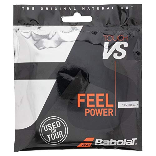 Babolat VS Touch (16-1.30mm) Natural Gut String (Black, 16)